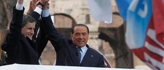 Alemanno-e-Berlusconi