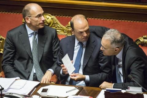 Senato - Fiducia al governo Letta