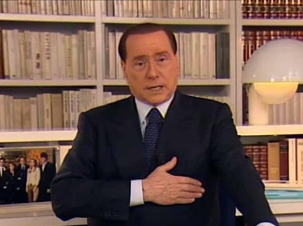 VIDEOMESSAGGIO DI SILVIO BERLUSCONI CHE CHIEDE AGLI ITALIANI DI RIBELLARSI